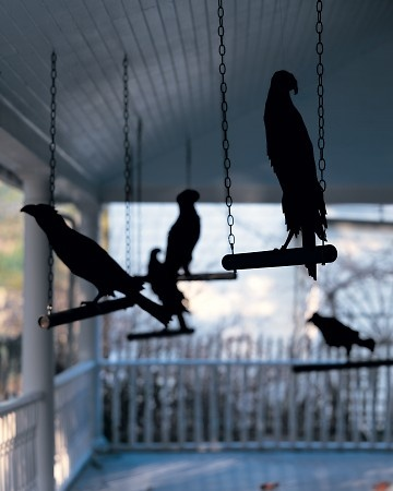 Chilling Crow Silhouettes Decoration