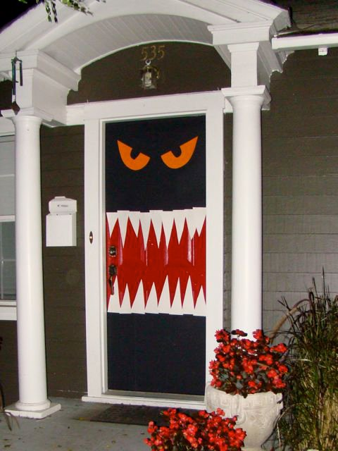 Hungry Monster Halloween Door Decor