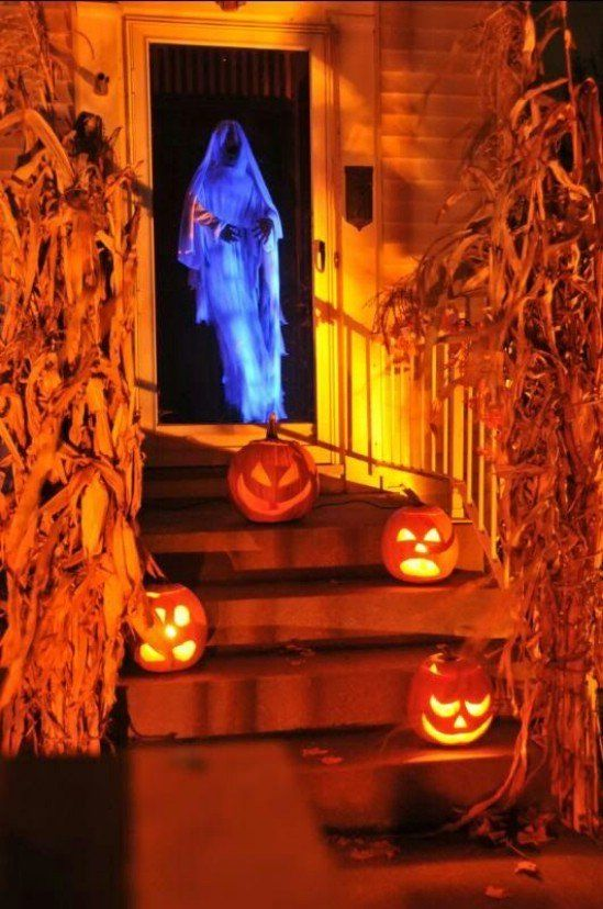 Spooky Halloween Door Decoration