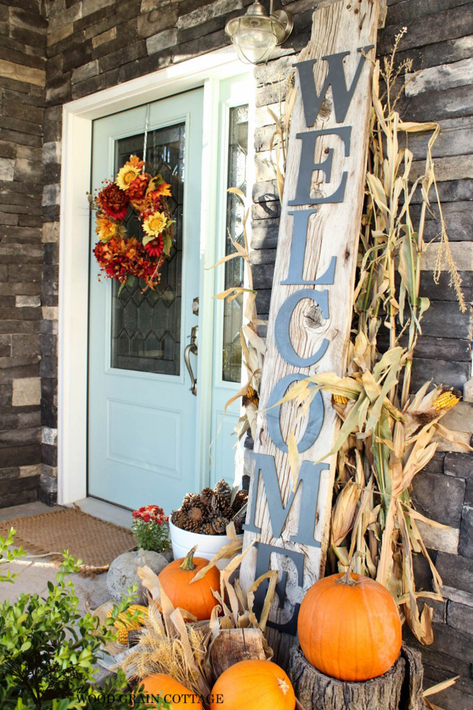 Creative Halloween door decor
