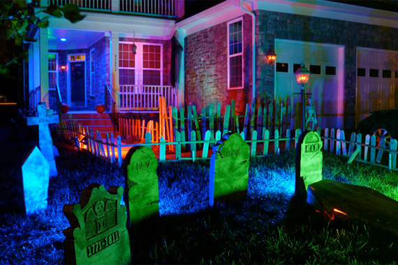 Halloween Neon Decor Idea