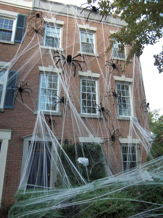 Giant Spiders Halloween Decor