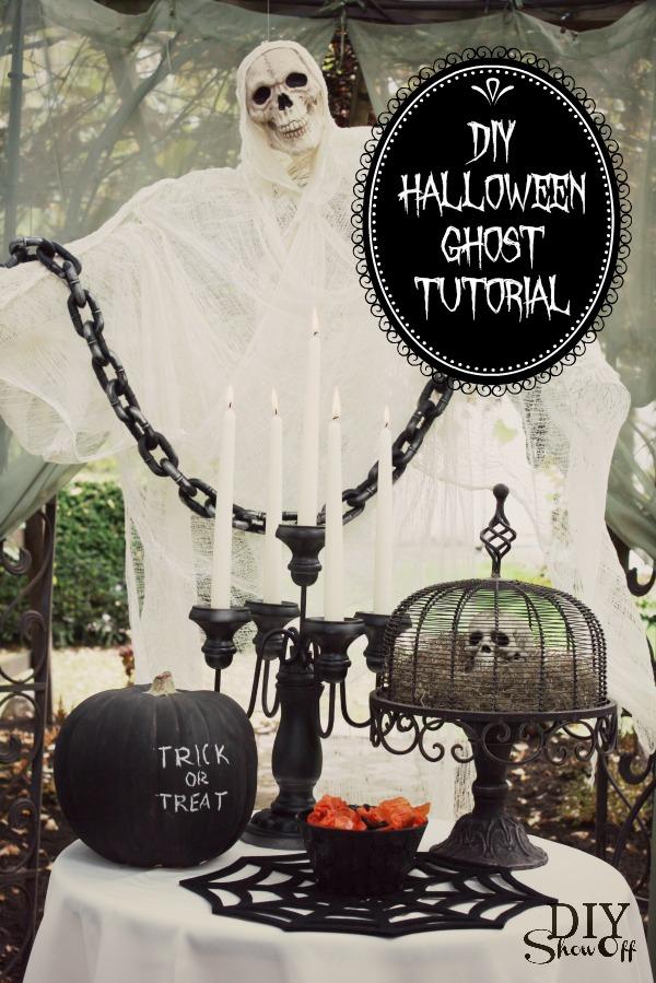 50 best diy halloween outdoor decorations for 2017 - Diy halloween ghost decorations ...