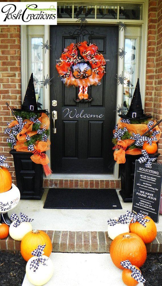 witchu0027s wreath halloween door idea