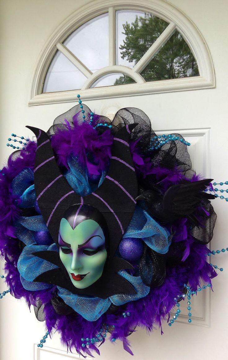 Maleficent Halloween Wreath Door Decoration