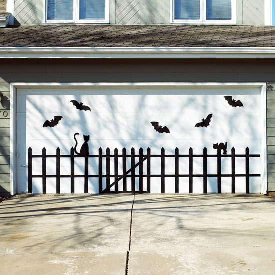 Halloween Garage Door Decoration Idea