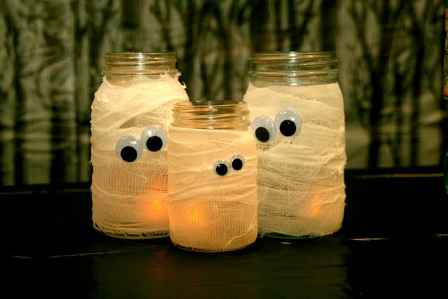 Mummy Jar Halloween Decoration