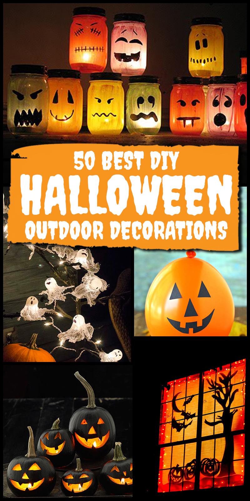 50 best diy outdoor halloween decorations — Homebnc