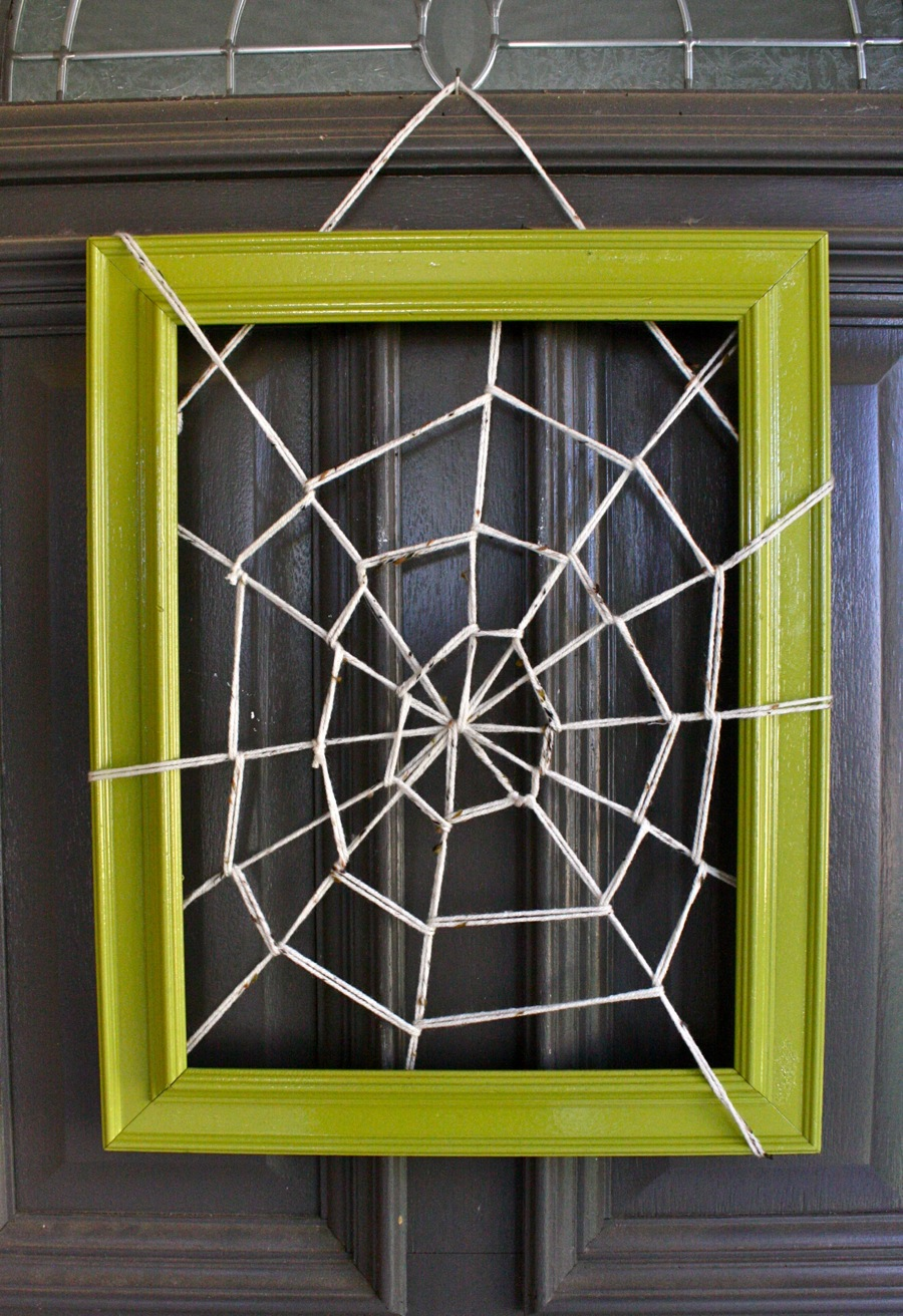 Cute halloween door decorations - 12 Caught In Your Web