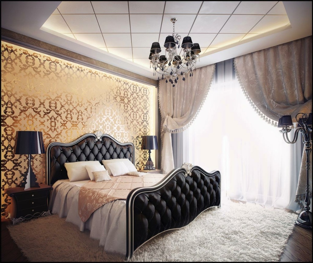 Charmant Elegance In Black And White Bedroom Designs
