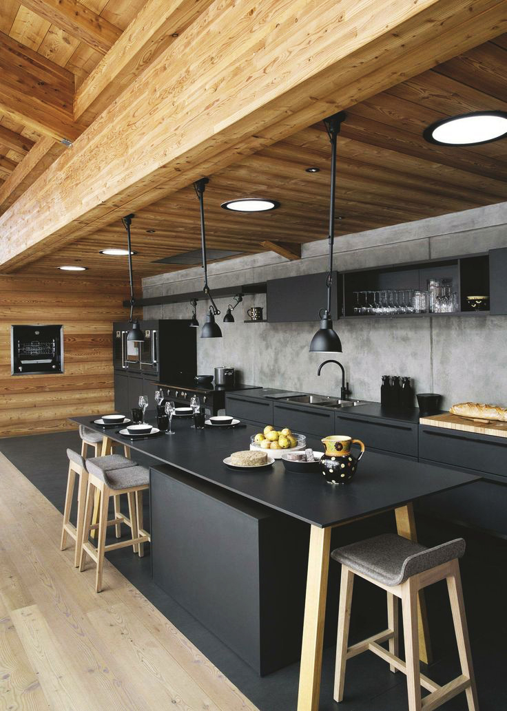 50 best kitchen design ideas for 2018 for Cuisine noir mat