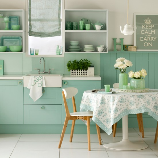 Minty Fresh Appeal Kitchen Design