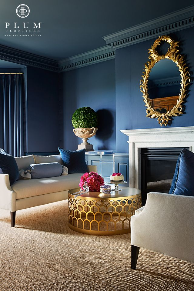 Blue Living Room Interior Decorations