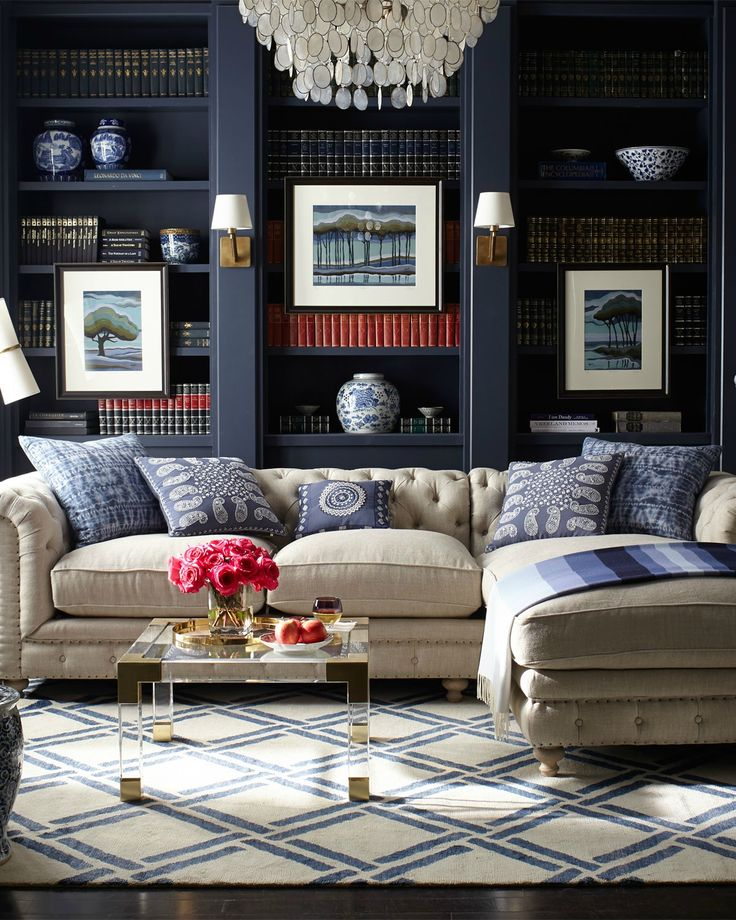 50 best living room design ideas for 2018 for Living room navy walls