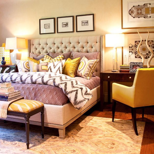 Yellow Without Excess Bedroom Design Photos