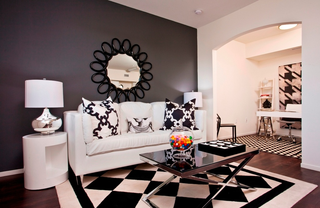 Black And White Basics Living Room Internal Design
