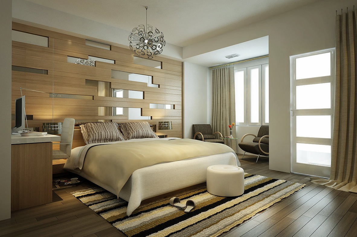 Modern Stripes Bedroom Decoration Design