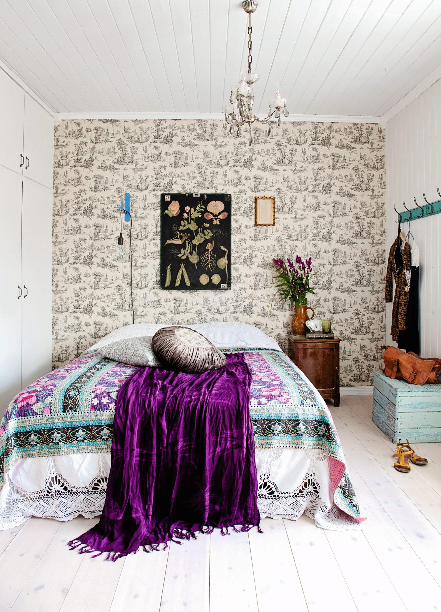 Purple Flower Wallpaper For Bedroom 50 Best Bedroom Design Ideas For 2017