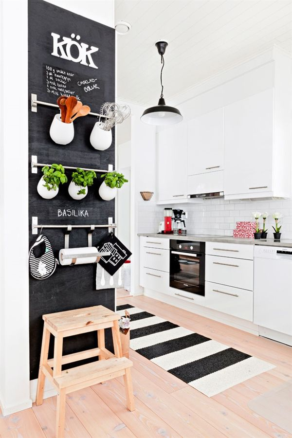 34. Chalkboard Surface Serves Many Purposes In The Kitchen