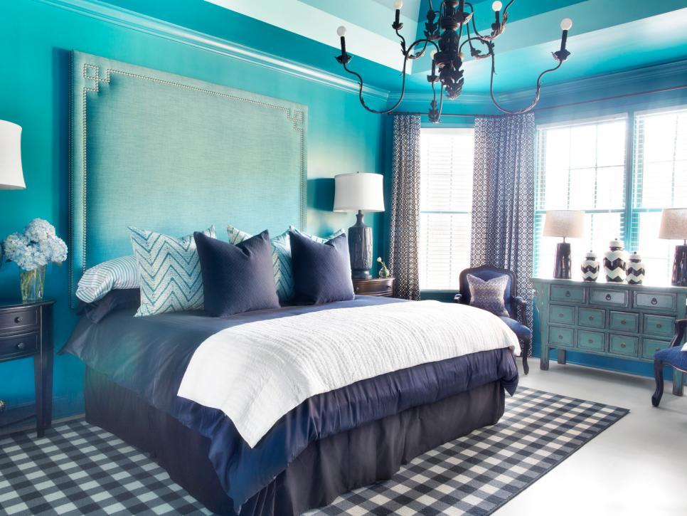 blue bedroom decoration idea image