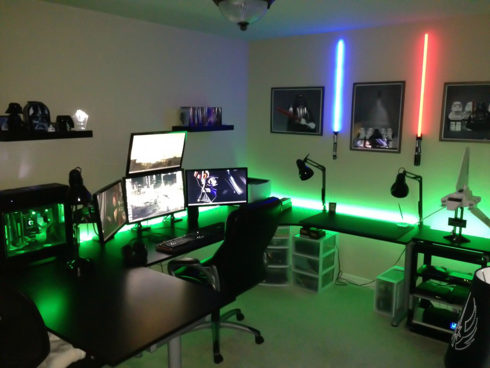 47 epic video game room decoration ideas for 2018 the force awakens video game room solutioingenieria Image collections