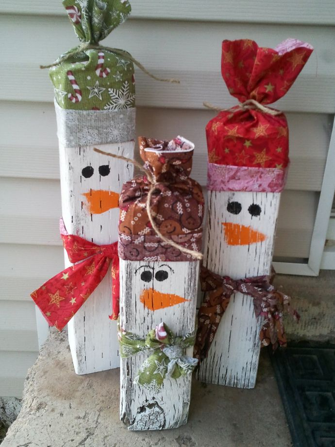 Beautiful 4×4 Snowmen Christmas Decoration
