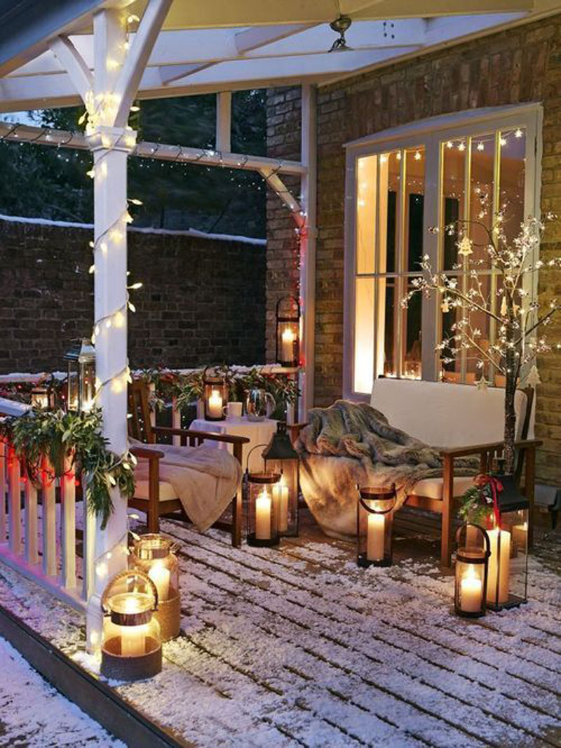 outdoor christmas tree decorating ideas