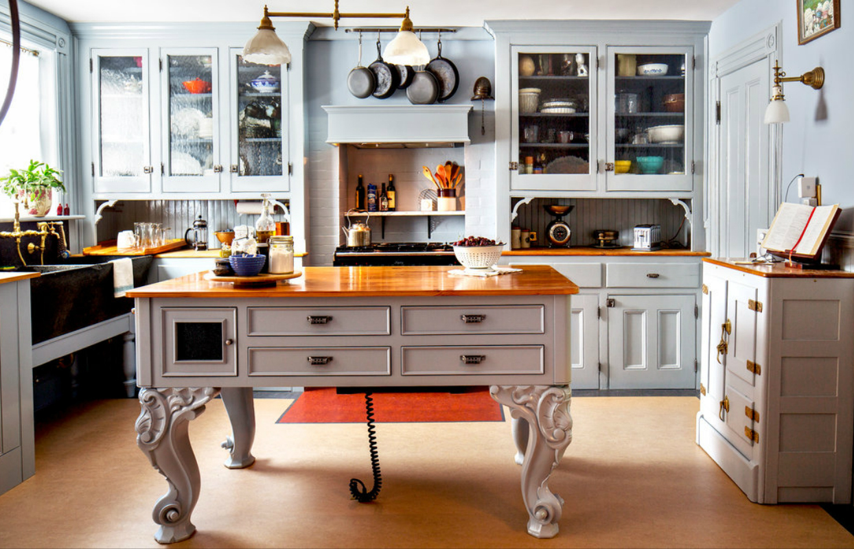 elegance from the baroque period kitchen island - Kitchen Design Ideas With Island