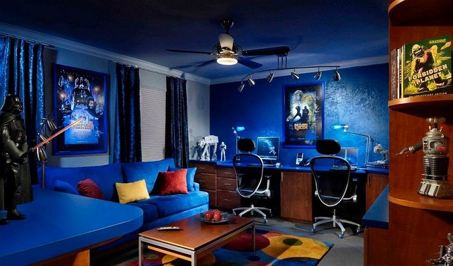 blue is the coolest color - Cool Colors For Living Room