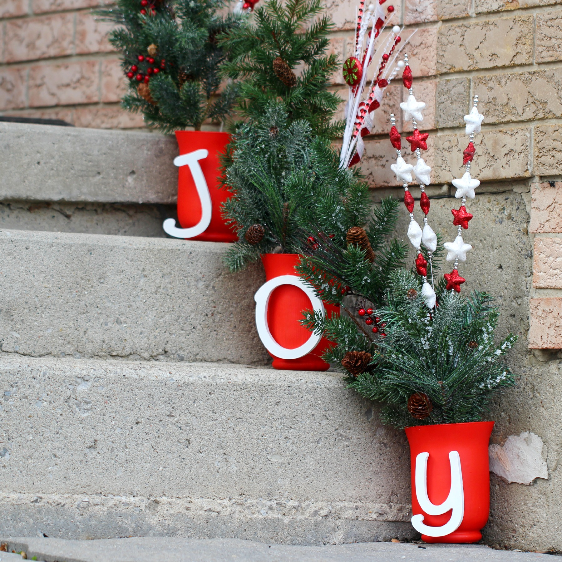 joyful steps christmas outdoor decor - Classic Outdoor Christmas Decorations