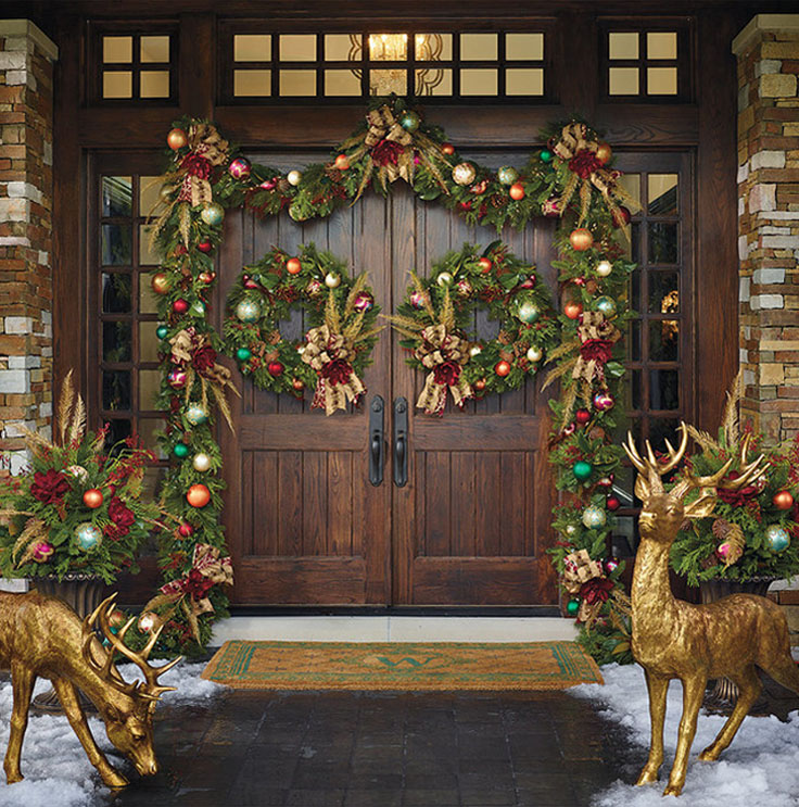 20 Front Door Ideas: 50 Best Christmas Door Decorations For 2018