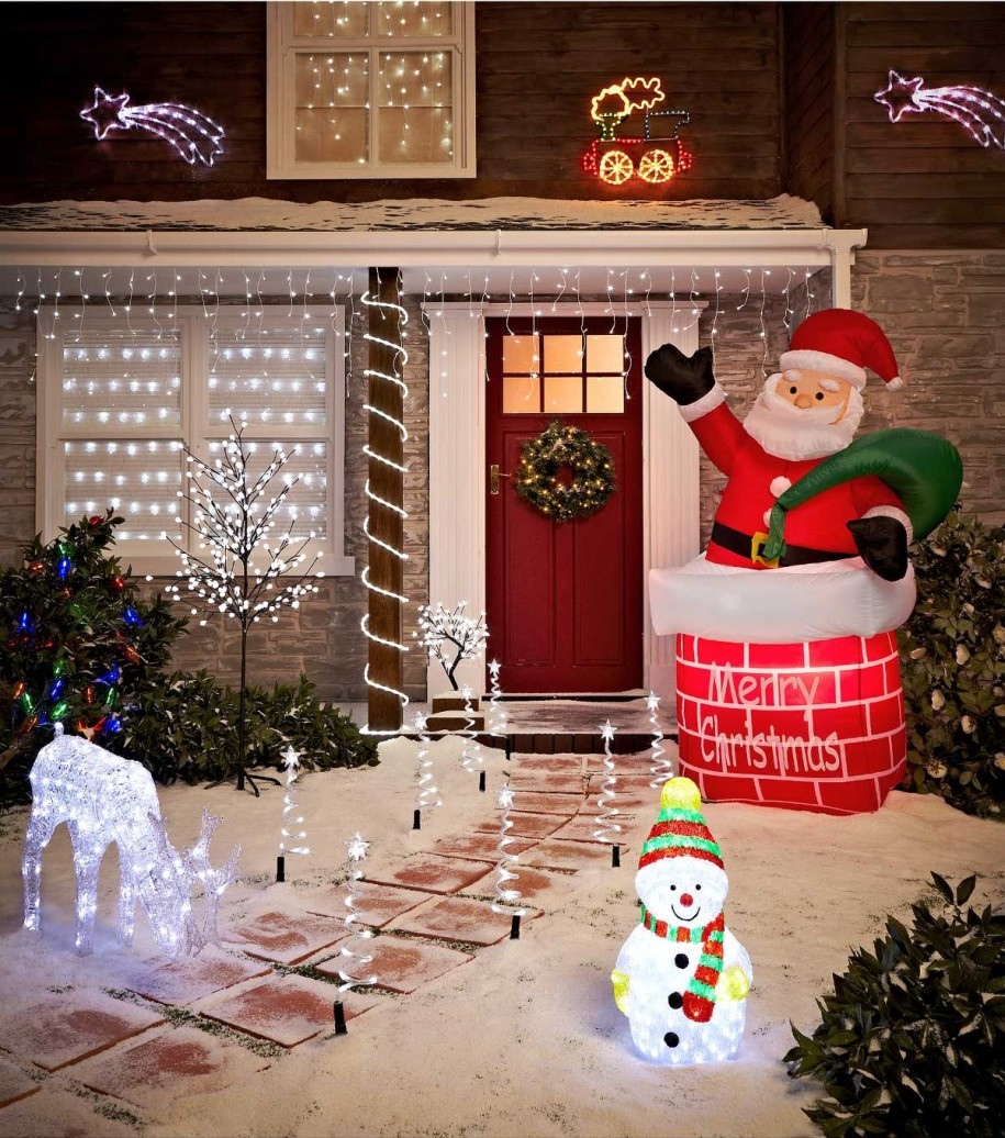 Homemade christmas yard decorations - Christmas Lights Fantasy Decoration