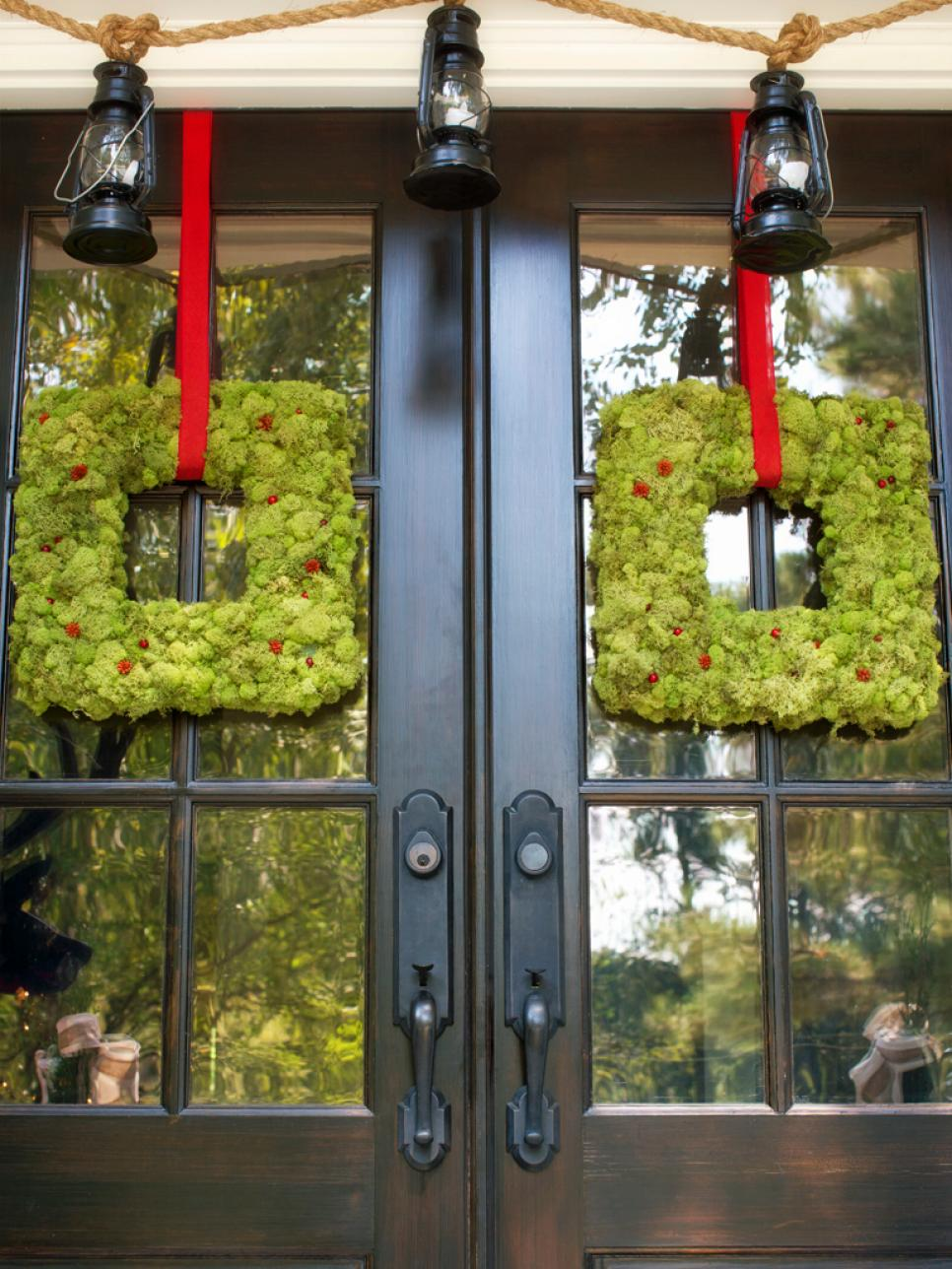 Deck The Doors NOT The Halls Outdoor Christmas Decoration Idea