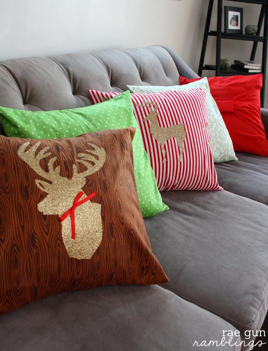 Christmas Deer Pillows