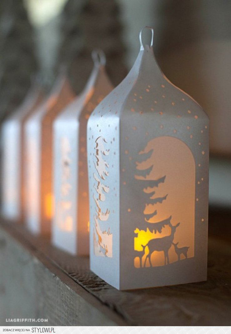 Cardboard Lanterns Outdoor Decoration For Christmas