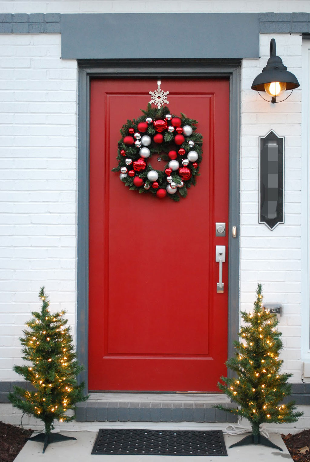 37 hung from a snowflake - Christmas Front Door Decor