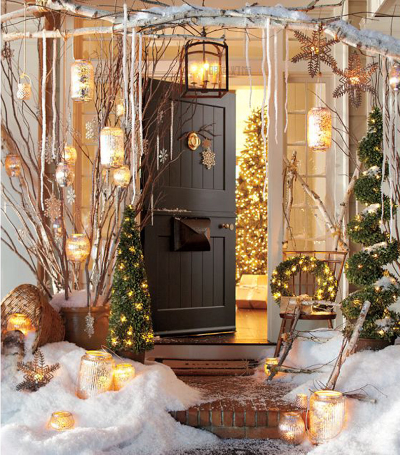 winter wonderland christmas outdoor decor - Winter Wonderland Christmas Decorating Ideas