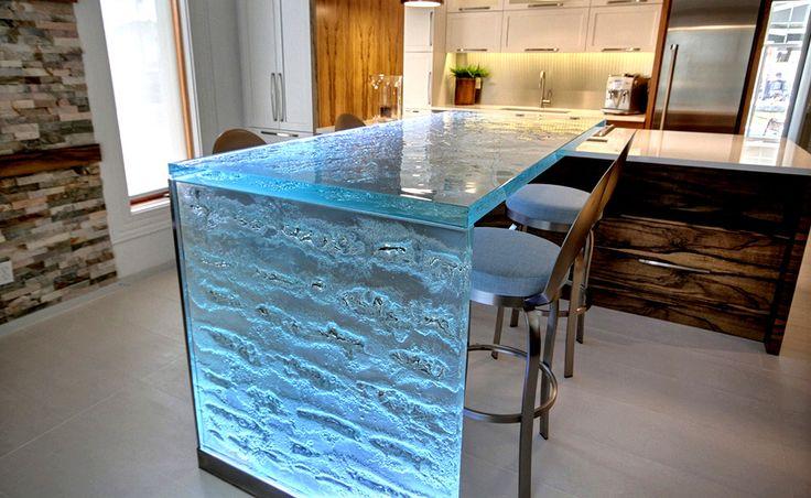 Glass Top Kitchen Island 50 best kitchen island ideas for 2018 glass on top kitchen island idea workwithnaturefo