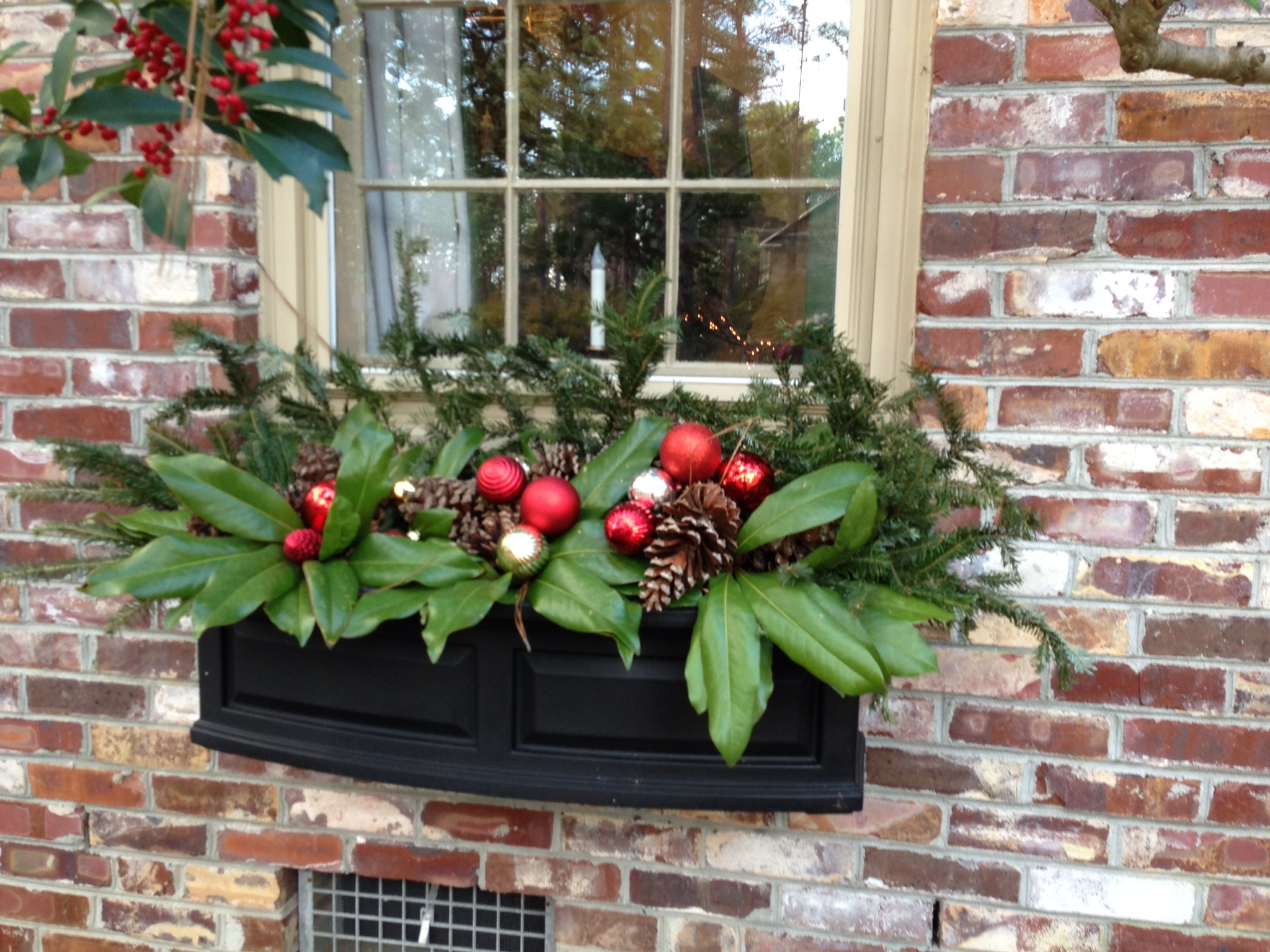 Winter Holiday Planter Xmas Decor
