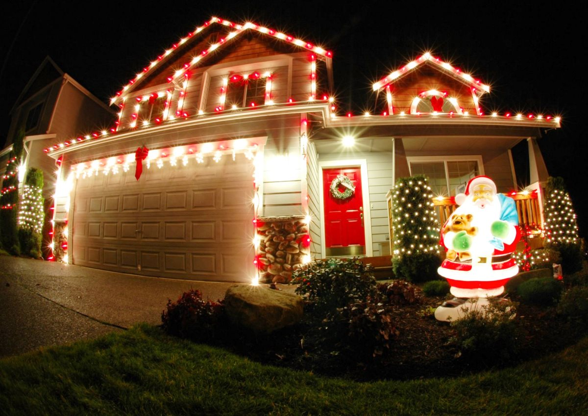 bright shining christmas lights for outdoors - Home Depot Outside Christmas Decorations