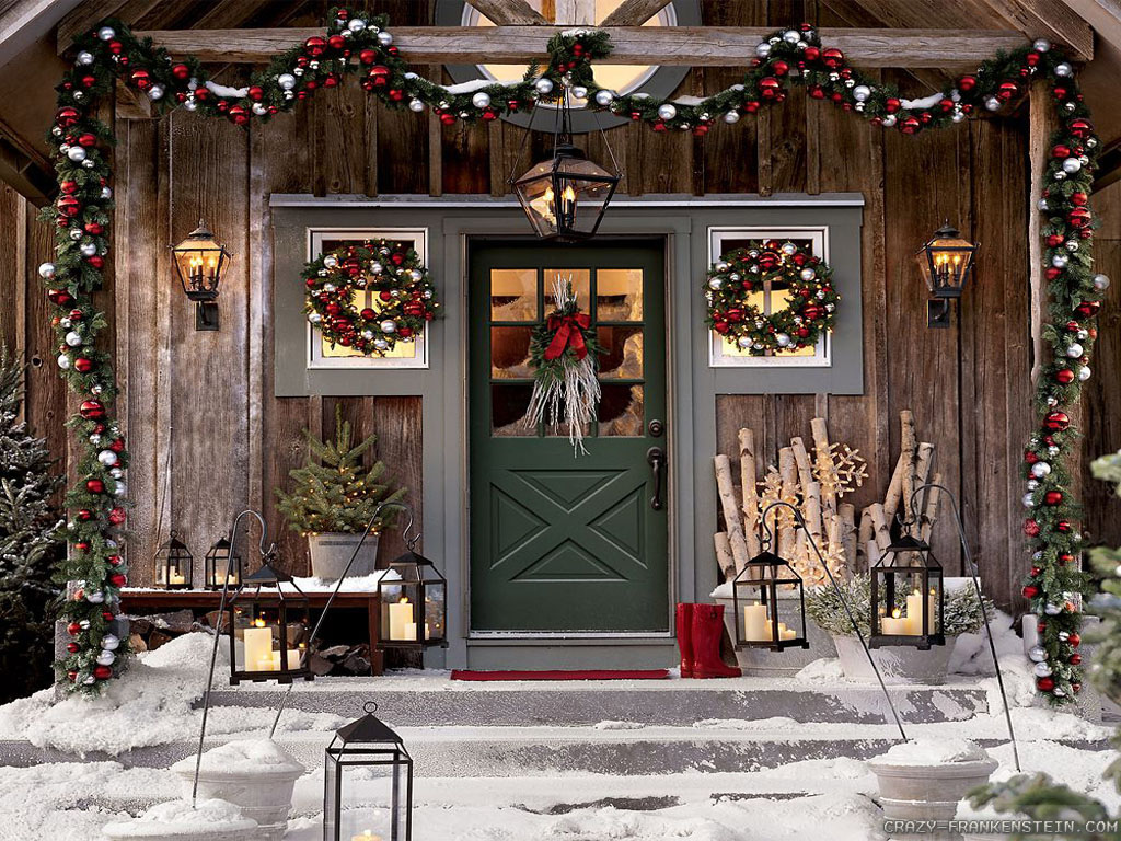 Outside christmas door decorations - 45 Light Up The Night With Lanterns