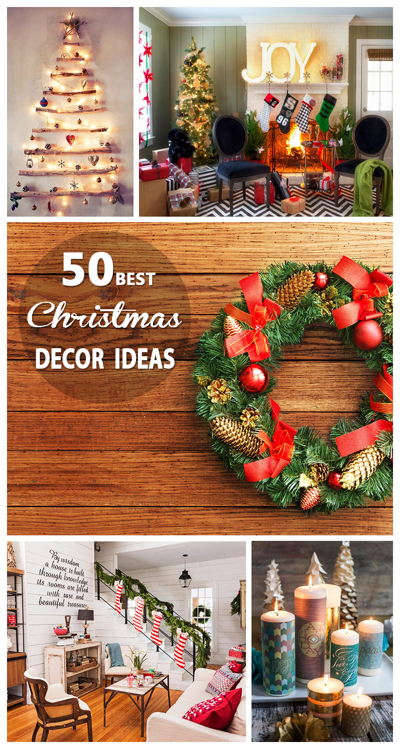 50 best christmas decoration ideas for 2017. Black Bedroom Furniture Sets. Home Design Ideas
