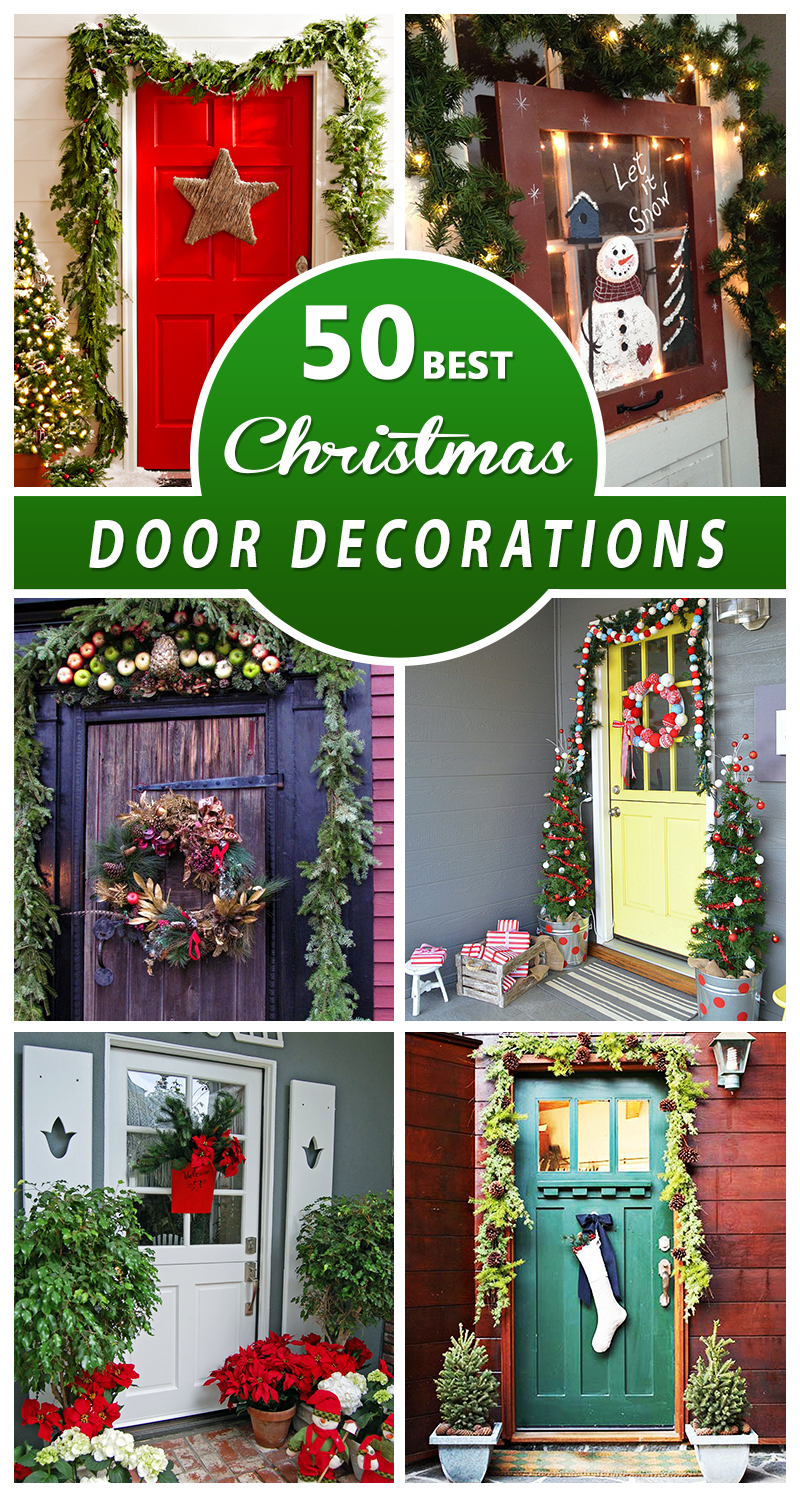 50 best christmas door decorations for 2016 for Door decorations for christmas