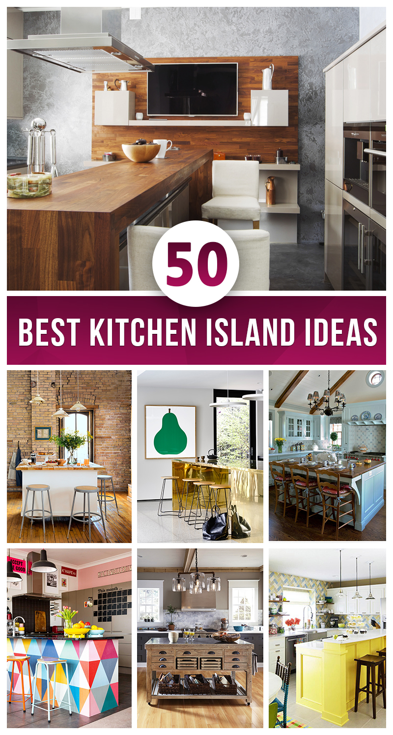 50 best kitchen island ideas for 2017 for Best kitchen renovation ideas