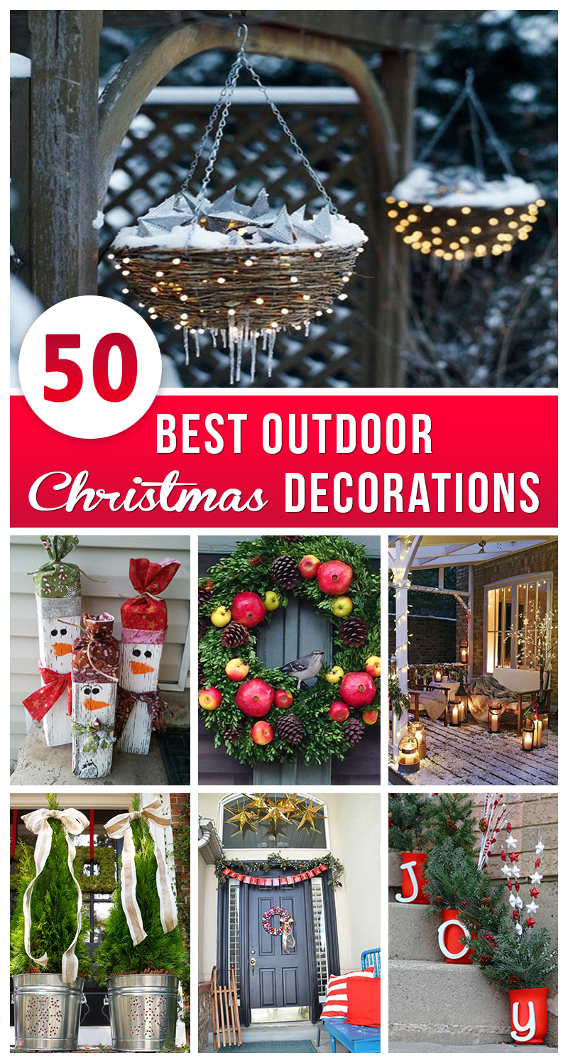 Best Outdoor Christmas Decorations Pinterest