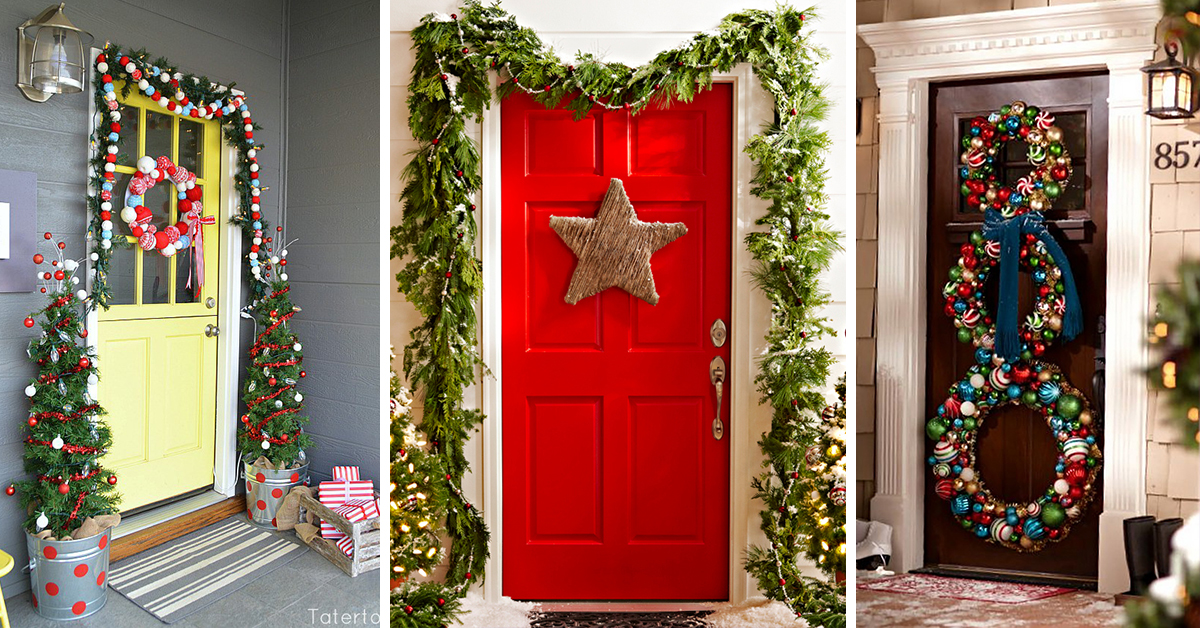 Exceptional Christmas Door Decor Ideas Part - 12: 50 Best Christmas Door Decorations For 2017