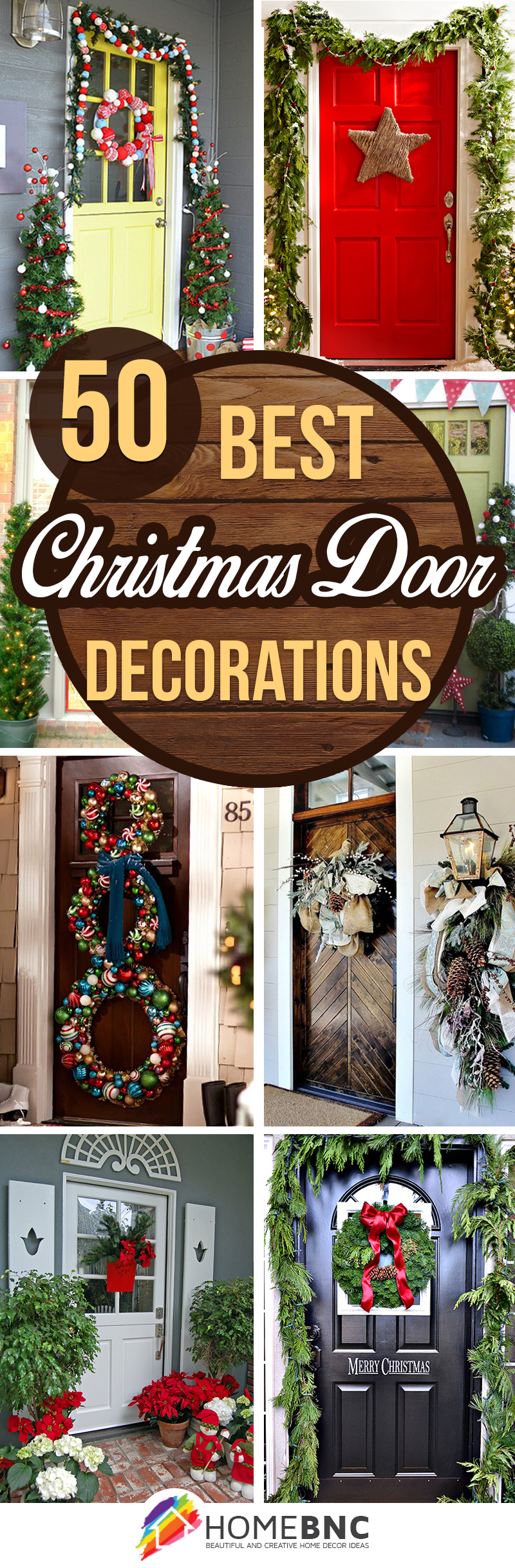 50 best christmas door decorations for 2018 - Beautiful Christmas Door Decorations