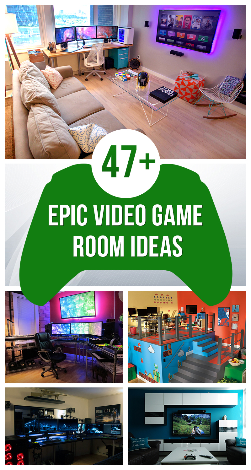 47 epic video game room decoration ideas for 2018 gamer room designs solutioingenieria Image collections