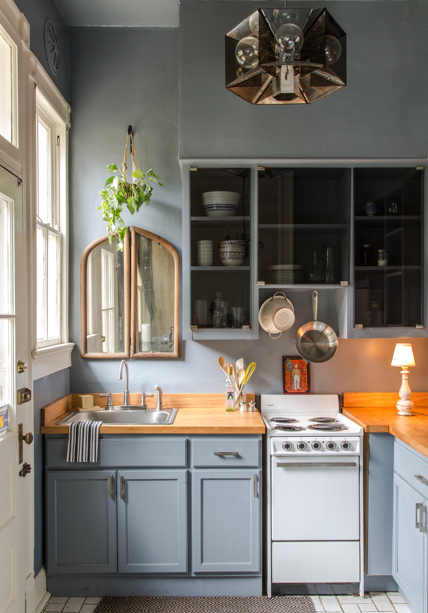 1. Find Serenity With Muted Blues & 50 Best Small Kitchen Ideas and Designs for 2019