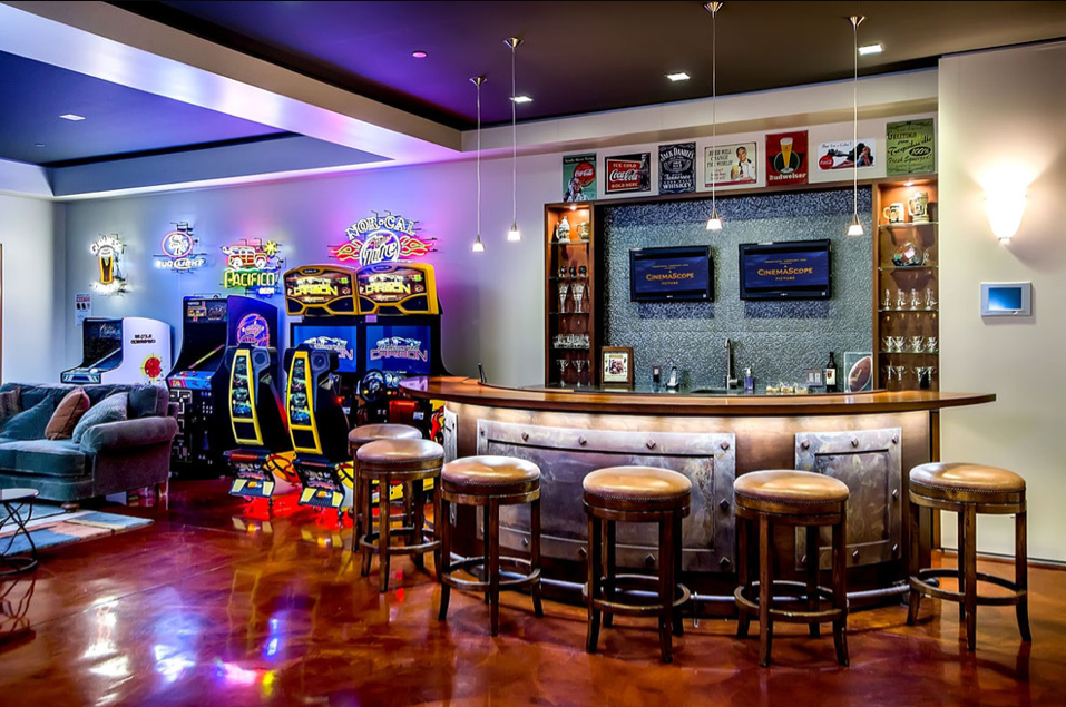 Man Cave Bar Games : Best man cave ideas and designs for